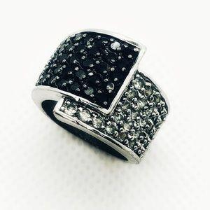Retired- Premier Designs Cubic Zirc Overlap Ring